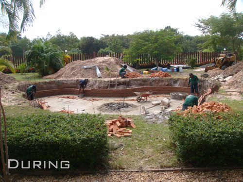 Waterfall And Large Pond For Isaan Garden Thai Garden Design