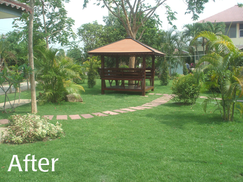 landscaping project in thailand