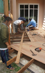 building wooden deck and pergola bangkok